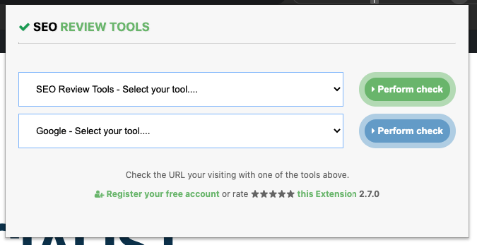 chrome extension SEO Review Tools