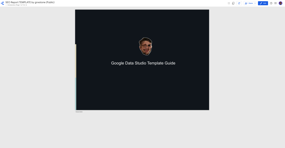 grwstone google datat studio template guide